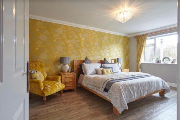 organised & styled master bedroom