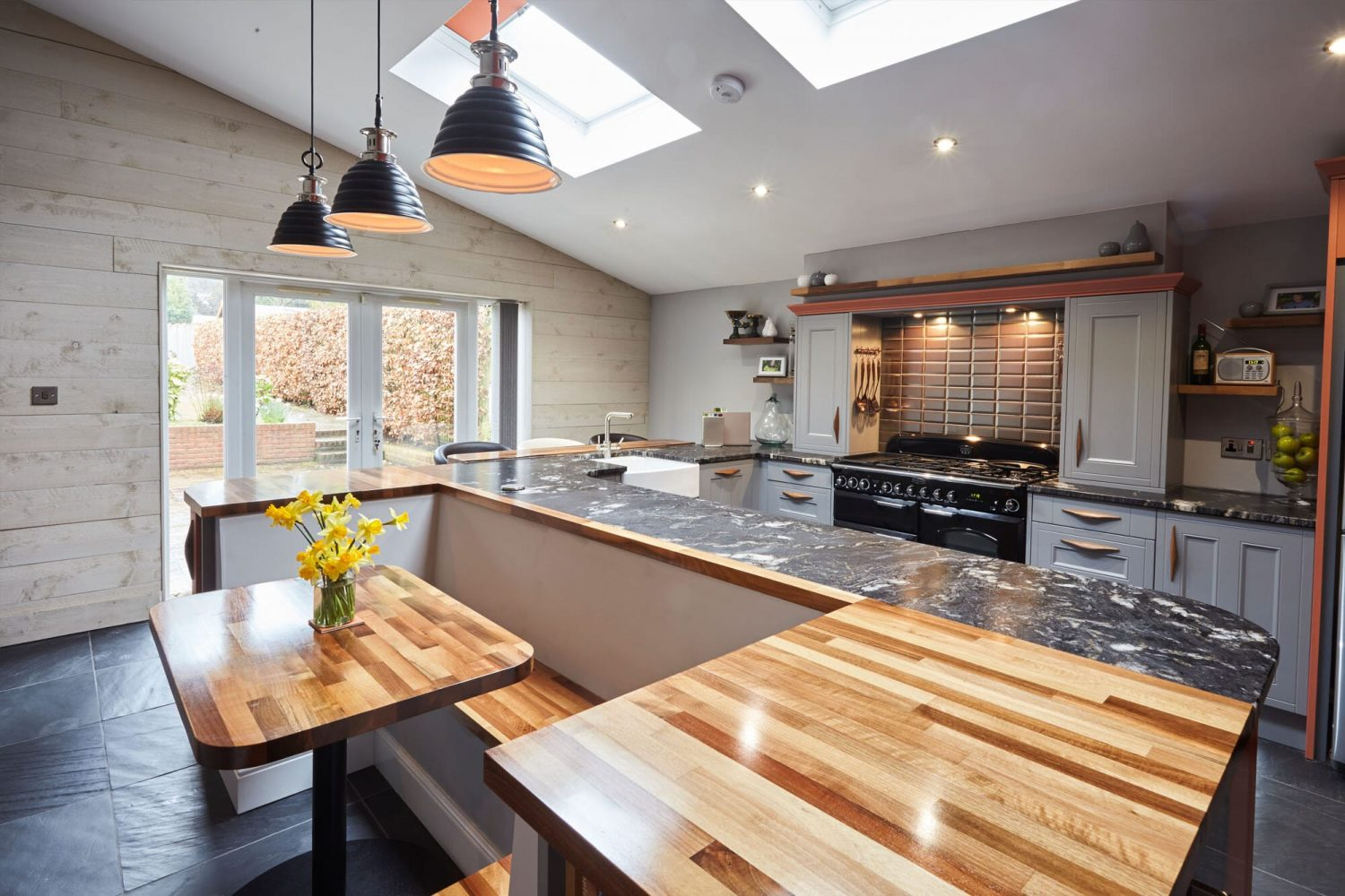 Light organised kitchen with home staging